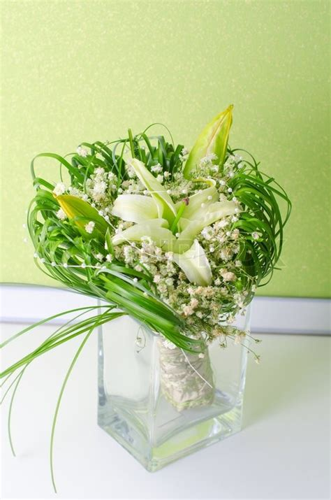 Wedding Flower Bunch by Wedding Bunch Of Flowers In A Vase Stock Photo Colourbox