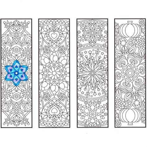 mandala coloring book markers cool weather mandala bookmarks hippie coloring pages