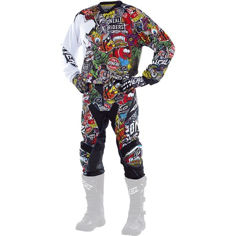 o neal motocross gear oneal mx 2017 crank dirt bike black multi
