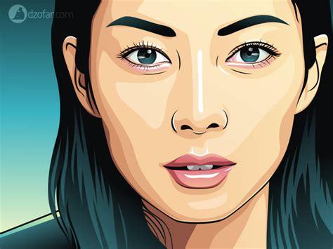 tutorial vector portrait photoshop vector beautiful by ndop on deviantart