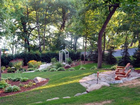 terraced garden with a lake view photos diy