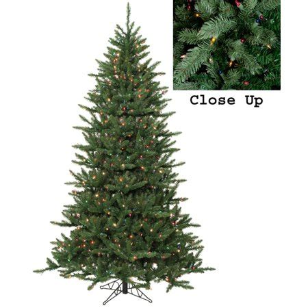 home accents holiday 75 frasier fir 7 5 pre lit frasier fir artificial tree multi lights walmart