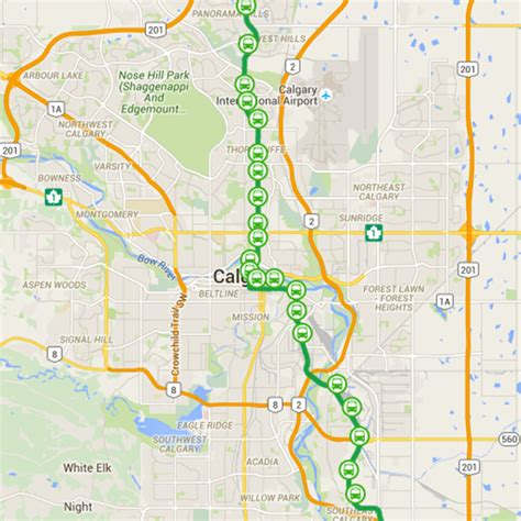 green line map the city of calgary green line lrt project