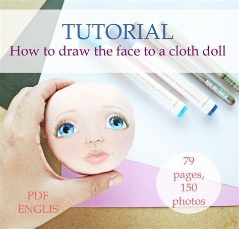 rag doll faces how to draw tutorial cloth doll pdf step by step