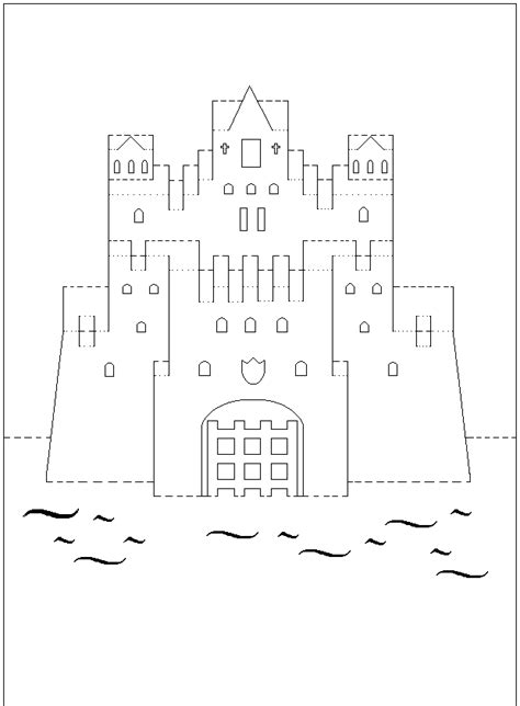castle pop up card template castle pattern gif 620 215 843 pixels templates
