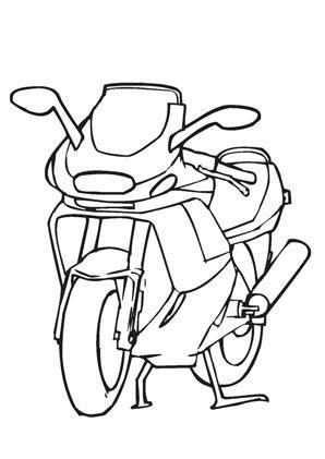 ausmalbilder motorrad transport malvorlagen
