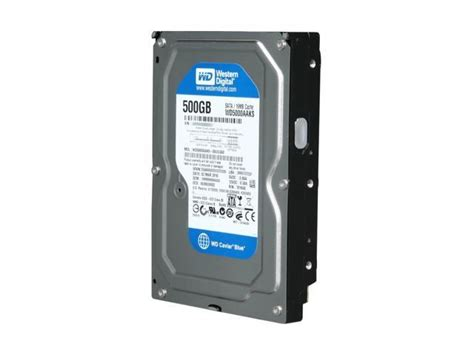 Harddisk 3 5 Wdc Blue 500gb western digital blue wd5000aaks 500gb 7200 rpm 16mb cache sata 3 0gb s 3 5 quot drive