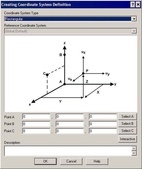 layout system definition using local coordinate systems