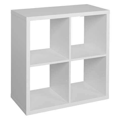 form mixxit white 4 cube shelving unit h 740mm w 740mm