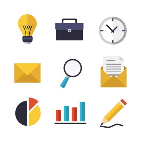 icon design daily business icons design vector free download