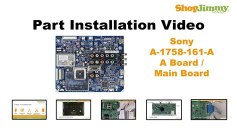 sony tv repair kdl 55 boards replacement guide for