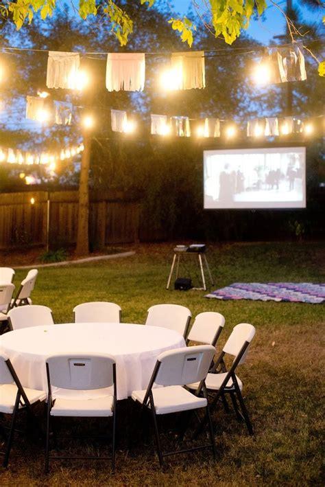 fall backyard birthday party   night backyard