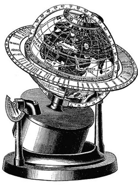 Vintage Clip Art - Old Fashioned Globe - The Graphics Fairy