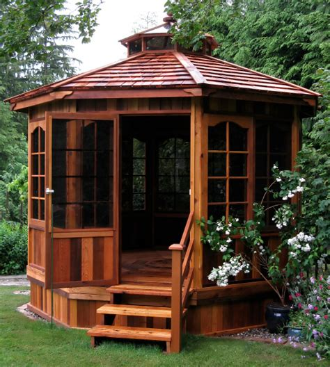 enclosed gazebo 106 gazebo designs ideas wood vinyl octagon