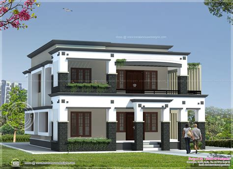 flat roof house plans 241 square meter flat roof house indian house plans