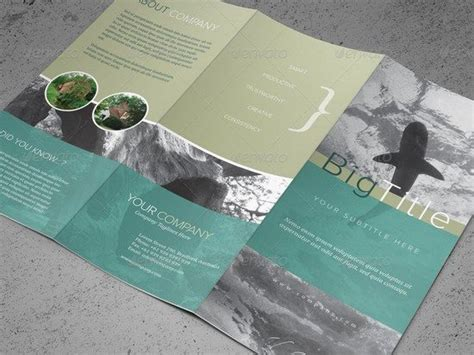 tri fold brochure photoshop template 30 free premium brochure designs psd templates web