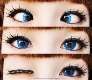 bright blue colored contacts korean big eye circle lenses korean skin care makeup
