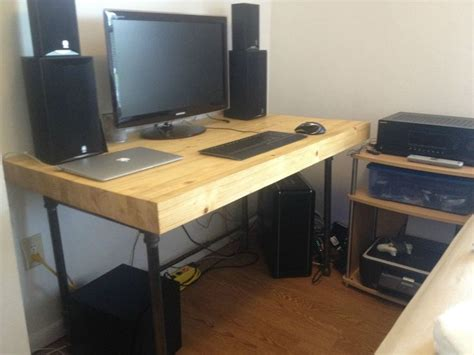 pc desk diy furniture saving small spaces with custom diy butcher