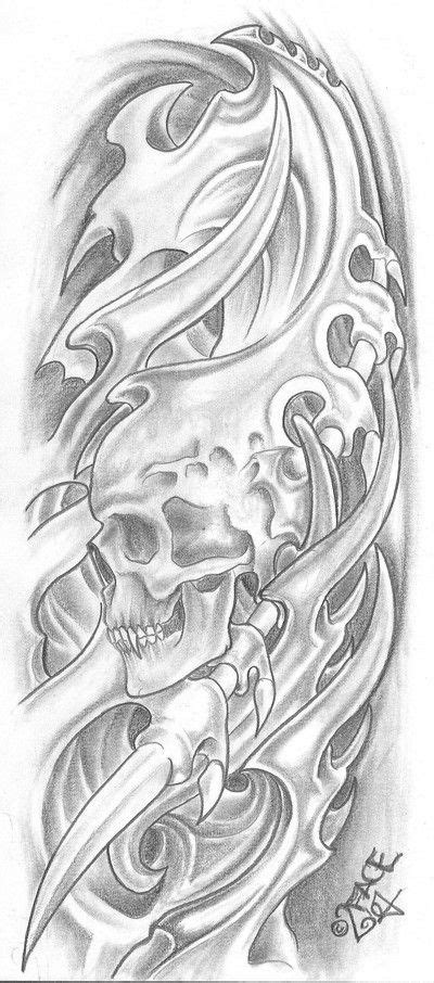 biomechanical tattoo step by step bio mecanic skull drawings bio mechanical tattoo for