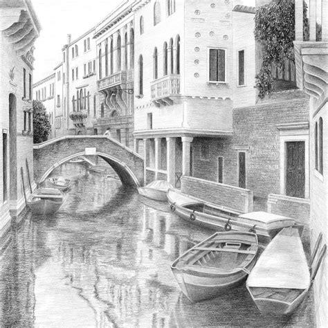 jon boat drawing venetian boats drawing by diane cardaci