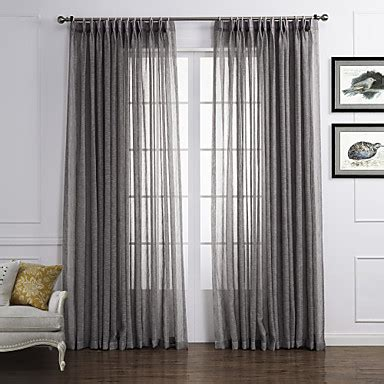 sheer and solid curtains two panels curtain country solid living room linen
