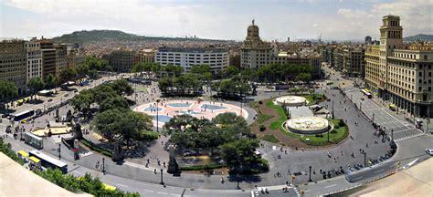 barcelona catalunya panoramic view of the plaza catalunya barcelona