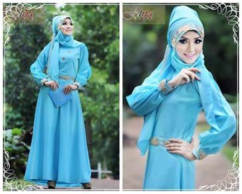 Gamis Pesta Yg Simple syalwa by fitria style biru muda baju muslim gamis modern
