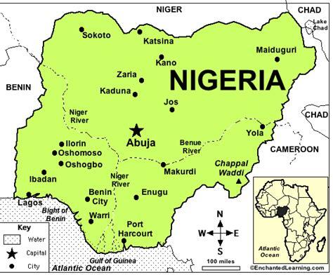 africa map zoomschool nigeria enchantedlearning