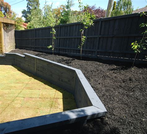 Garden Wall Paint Our Range Of Retaining Wall Sleepers