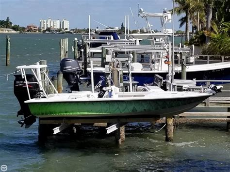 18 flats boat 1999 used flats and bay 18x8 flats fishing boat for sale