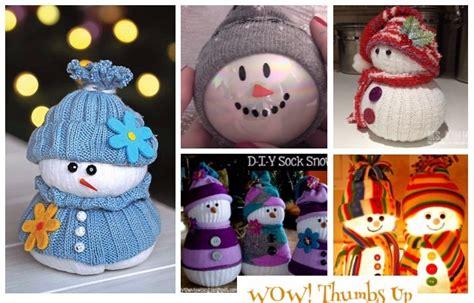diy sock snowman ornament diy sock snowman crafts tutorials for ornament decoration