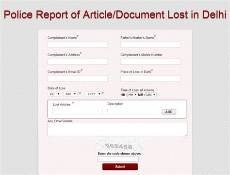 format html for mobile how to register fir online in delhi for lost article or