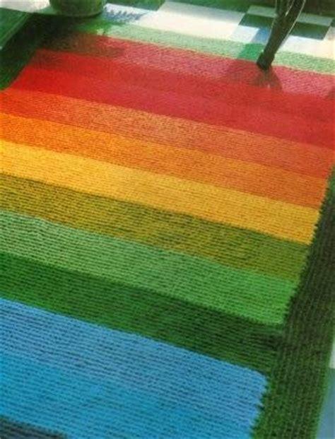 tappeto uncinetto tunisino tappeto colorato a punto tunisi paperblog