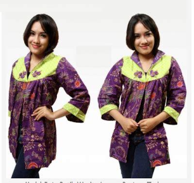 desain baju oi model baju batik wanita lengan panjang untuk kerja