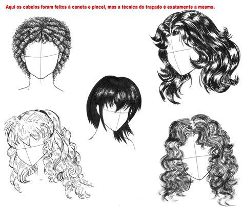 desenho cabelo curso de desenho 05 como desenhar cabelo parte 2 hnp