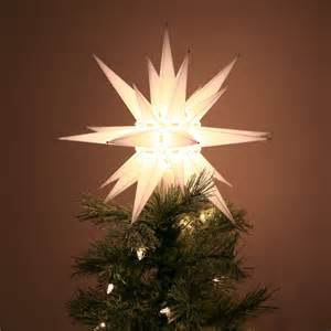 tree topper lighted moravian light tree topper carolina