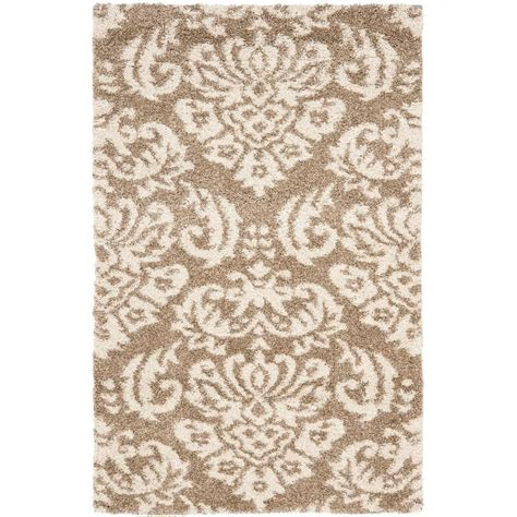 and beige area rug safavieh florida shag beige 11 ft x 15 ft area rug sg460 1311 1115 the home depot