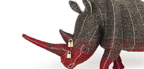 Rhino Artwork locked horn project stop rhino poaching with african art