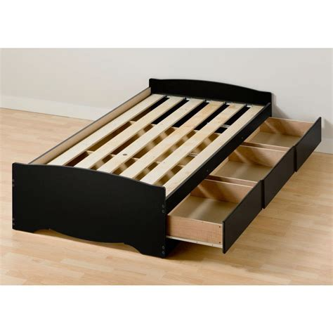 xl bed with storage xl platform bed frame with 3 storage drawers in black