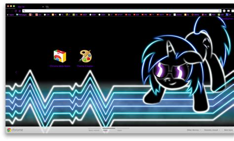 themes for google chrome dj vinyl scratch dj pon 3 glow theme simple toolbar chrome