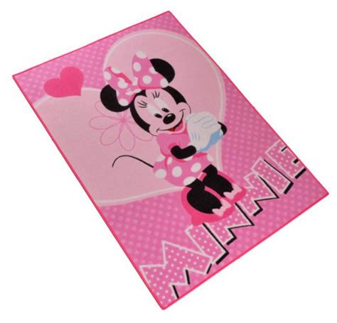 minni maus teppich kinder teppich disney minnie mouse flower 95x133 cm