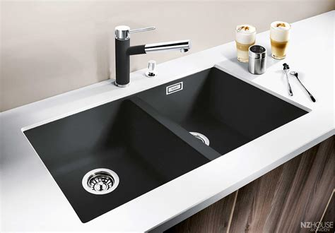 black sink white countertop decorating brilliant blanco sinks for kitchen furniture