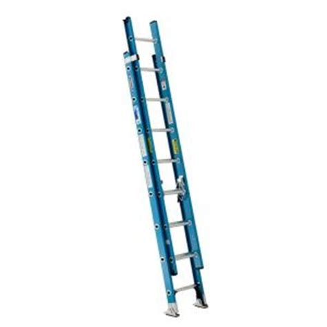 Extension Ladders At Home Depot by Werner 16 Ft Fiberglass Extension Ladder With 250 Lb