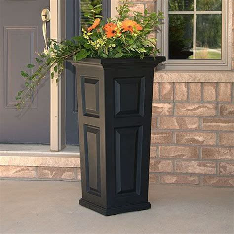 mayne nantucket black tall planter tall planters nantucket and planters