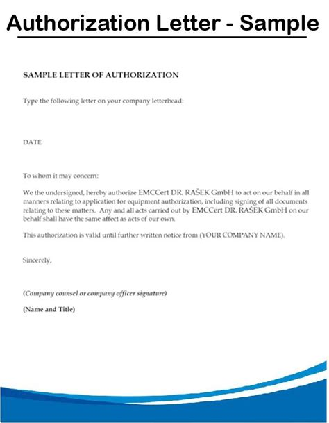 authorization letter guide authorization letter sle format permission letterto