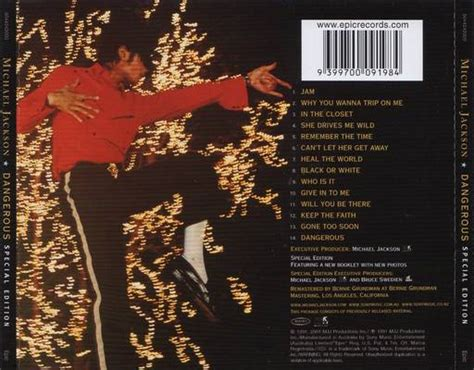 Michael Jackson Is Back In The Us by Michael Jackson Dangerous Special Edition 1991 Back