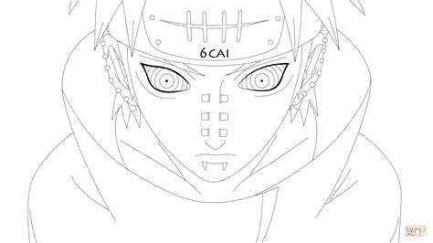 pain naruto coloring pages know pain coloring page free printable coloring pages