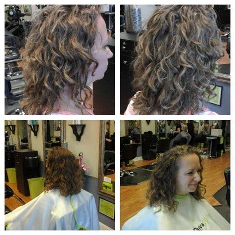 deva curl highlights before and after deva cut and pintura highlight pintura