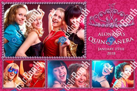 Quinceanera Tiara 1 Large 3 Small Poses Horizontal Dslrbooth Store Quinceanera Photo Booth Template