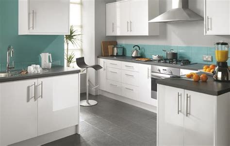 gloss kitchen ideas white and teal kitchens fairmount white gloss kitchen